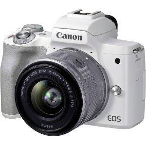 $699新品上市:Canon EOS M50 Mark II 微单相机 + 15-45mm 镜头套装