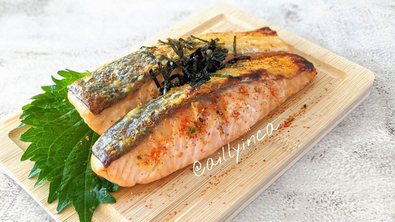 食谱分享  超好吃的三文鱼西京烧/味增烤三文鱼上桌!(鳕鱼、白肉鱼都适用)