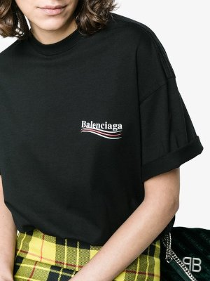 Balenciaga Black Logo T-Shirt $425 - Shop AW18 Online - Fast Delivery, Price