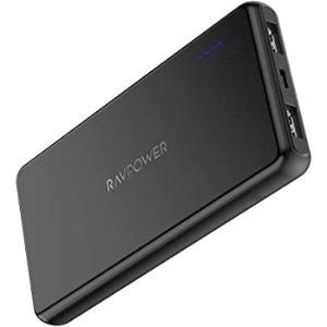 Portable Charger RAVPower 10000mAh External Battery Pack Ultra Slim Power Bank