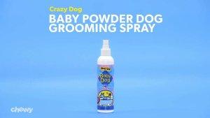 Crazy Dog Baby Powder Dog Grooming Spray, 8-oz bottle - Chewy.com
