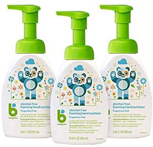 Amazon.com: Babyganics Alcohol-Free Foaming Hand Sanitizer, Pump Bottle, Fragrance Free, 8.45 oz, 3 Pack, Packaging May Vary: Health & Personal Care