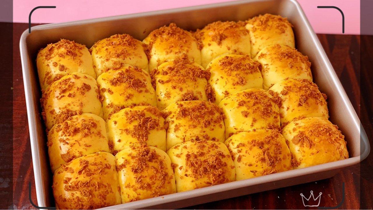 南瓜肉松小餐包(一次性发酵版)