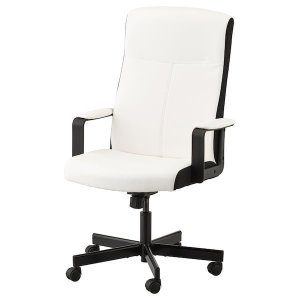 MILLBERGET Swivel chair - Kimstad white - IKEA