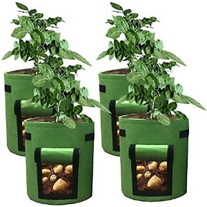 HAHOME 4 Pack 7 Gallon Potato Grow Bags