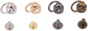Amazon.com: AKOAK Brass Pull Ring Pacifier Shape Rivets with Screw,Rivets Fasteners for DIY Leather Craft Belt Bag Wallet,9mm,6 Set (Gold): Arts, Crafts & Sewing