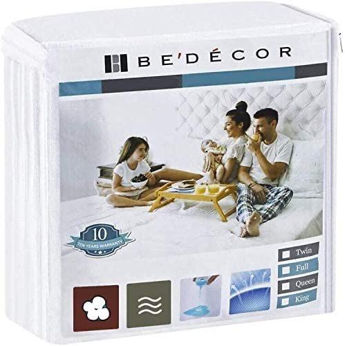 Bedecor 防水透气防螨虫Queen尺寸床垫保护套