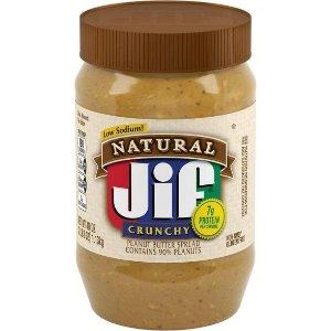 Jif Natural Crunchy Peanut Butter - 40oz : Target