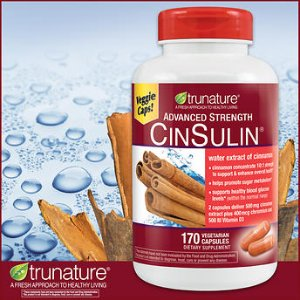 trunature Advanced Strength CinSulin, 170 Vegetarian Capsules
