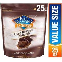 Blue Diamond Almonds 美国大杏仁 黑巧克力可可粉口味 25 Oz.