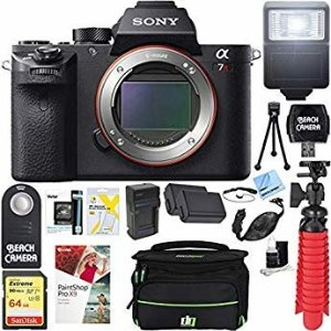 Amazon.com : Sony a7R II Full-frame Mirrorless Interchangeable Lens 42.4MP Camera (Body Only Pro Utility Bundle) : Camera & Photo