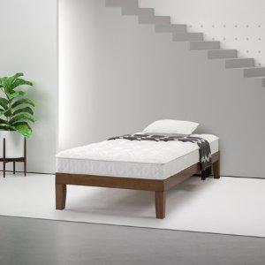 $73.05Zinus Slumber 1 超舒适6英寸双层床垫促销 带防潮垫