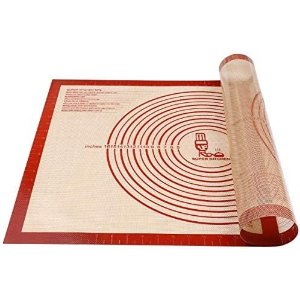 Amazon.com: Non-slip Silicone Pastry Mat Extra Large with Measurements 28''By 20'' for Silicone Baking Mat, Counter Mat, Dough Rolling Mat, Oven Liner, Fondant/Pie Crust Mat By Folksy Super Kitchen (2028, red): Kitchen & Dining