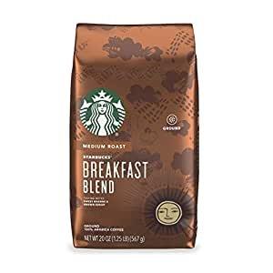 $7.12Starbucks Breakfast Blend Medium Roast Ground Coffee 1 bag (20 oz.)
