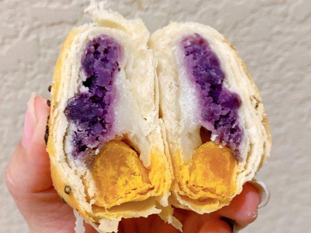 紫薯肉松麻薯蛋黄酥-超酥脆低卡
