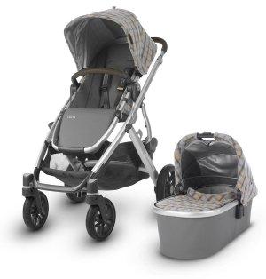 UPPAbaby 2019 VISTA Stroller - Spenser (Grey & Yellow Tartan/Silver/Moss Leather)
