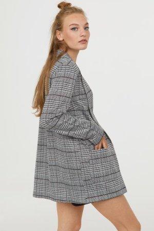 Long Jacket - Black/checked - Ladies | H&M US