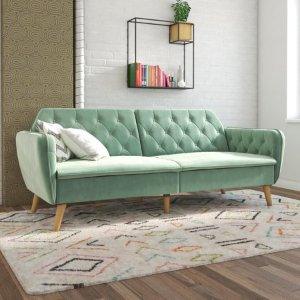 Novogratz Tallulah Sofa Bed in Velvet