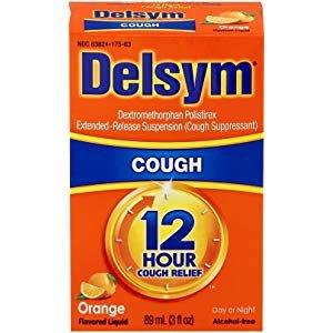 Amazon.com: Delsym Adult 12 Hr Cough Relief Liquid, Orange, 3oz: Health & Personal Care