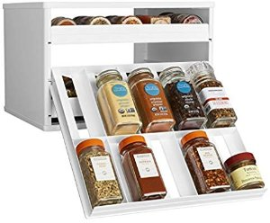 Amazon.com: YouCopia Chef's Edition SpiceStack 30-Bottle Spice Organizer with Universal Drawers, White: Gateway