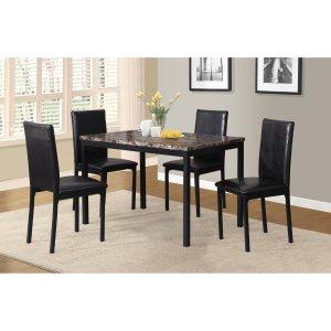 Roundhill Furniture 5-Piece Citico Metal Dinette Set