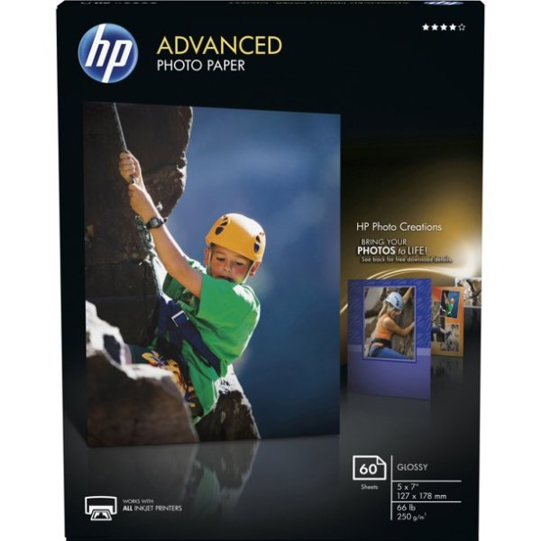 HP 高级照片打印纸 白色 每包60张