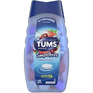 Amazon.com: TUMS Smoothies Berry Fusion Extra Strength Antacid Chewable Tablets for Heartburn Relief, 60 Tablets: Gateway