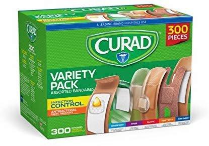 Curad 创可贴 300入 共6种类型和尺寸