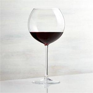 Vineyard 26 oz. Burgundy Wine Glass + Reviews | Crate and Barrel