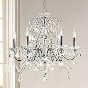 Saint Mossi Modern Contemporary Elegant K9 Crystal Glass Chandelier Pendant Ceiling Lighting fixture - 5 Lights - - Amazon.com