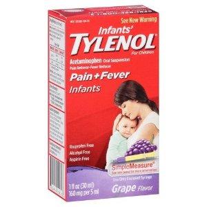 Infants' Tylenol Pain Reliever And Fever Reducer Liquid Drops - Acetaminophen - Grape - 1 Fl Oz : Target