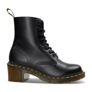 Women's Clemency Smooth Boots in Black | Little Burgundy