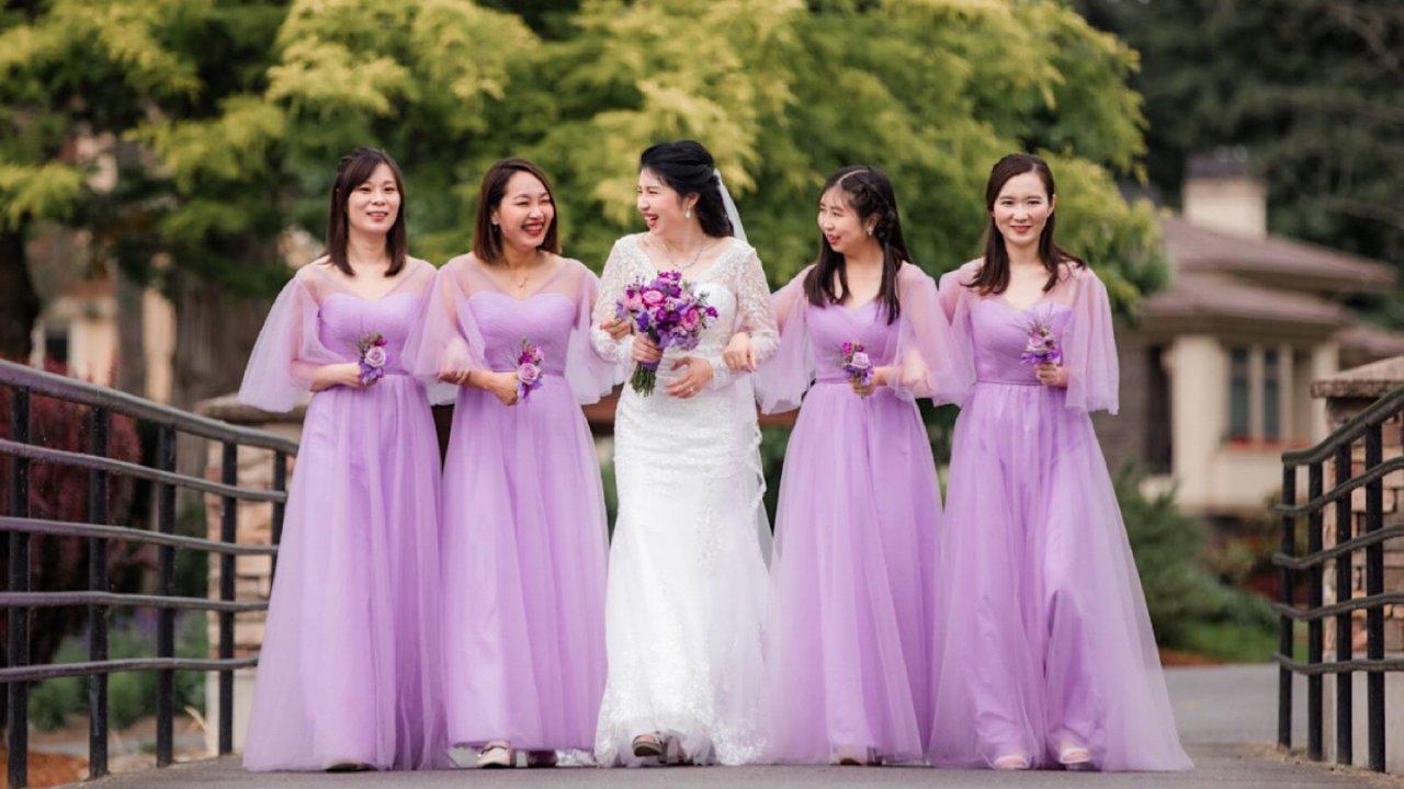 我的北美西式婚礼筹备和中西婚纱照PK
