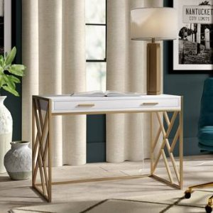 Willa Arlo Interiors Dayne Writing Desk & Reviews | Wayfair
