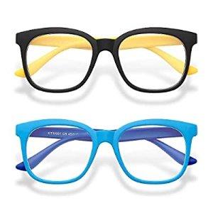 Gaoye 2-Pack Kids Blue Light Glasses