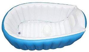 Amazon.com : Baby Inflatable Bathtub, FLYMEI Portable Infant Toddler Non Slip Bathing Tub Travel Bathtub Mini Air Swimming Pool Kids Thick Foldable Shower Basin (Blue) : Baby