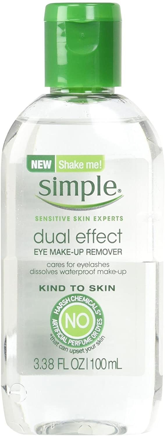 Simple Kind To Skin Eye Makeup Remover, Dual Effect, 3.38 Ounce 眼唇卸