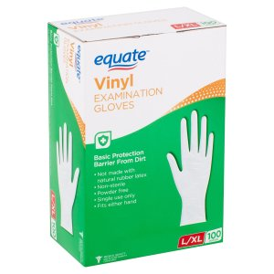 100 Count for $8.27Equate gloves Sale