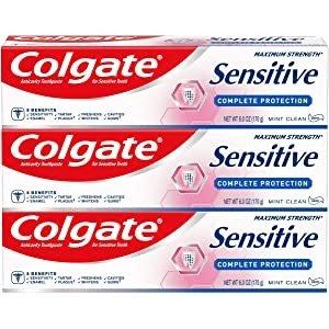 Colgate 敏感牙齿专用全效型牙膏 薄荷味3个装