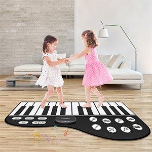 M SANMERSEN 儿童脚踏钢琴键盘音乐毯 钢琴造型更加带感
