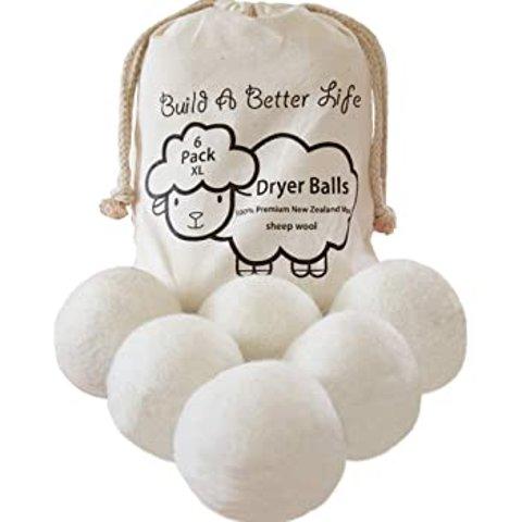 Wool Dryer Balls-Pack of 6 XL