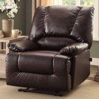 Serta 超舒适黑色皮革单人椅子