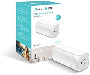 Kasa HS107 Smart Plug, 2-Outlets, Works with Alexa & Google Assistant