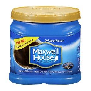 $4.99(原价$10.99)Maxwell House 原汁原味烘培咖啡 30.6oz
