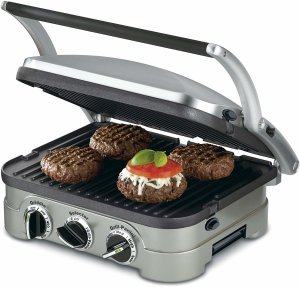 Amazon.com: Cuisinart GR-4N 5-in-1 Griddler, Silver, Black Dials: Electric Contact Grills: Kitchen & Dining