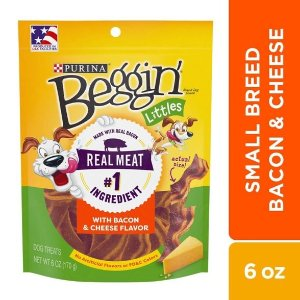 Purina Beggin Littles Bacon & Cheese Flavor 6oz