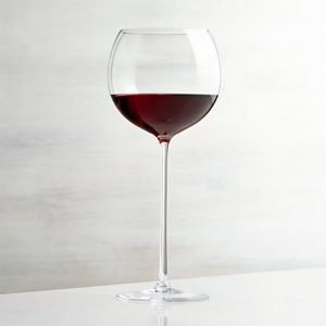 Camille 23 Oz. Long Stem Wine Glass - Red + Reviews | Crate and Barrel