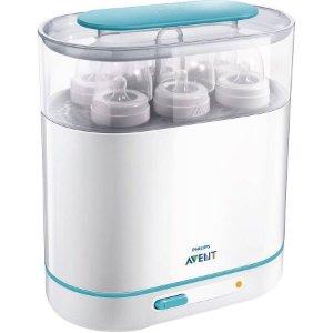 $38Philips AVENT 3-in-1 Electric Steam Sterilizer @ Amazon