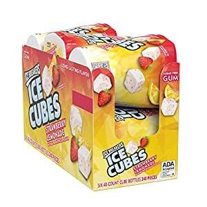 $9.49 每罐$1.58Ice Breakers 草莓柠檬无糖口香糖 6罐