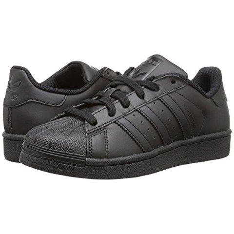 adidas Originals Superstars Running Shoe Black 6.5 M US Big Kid